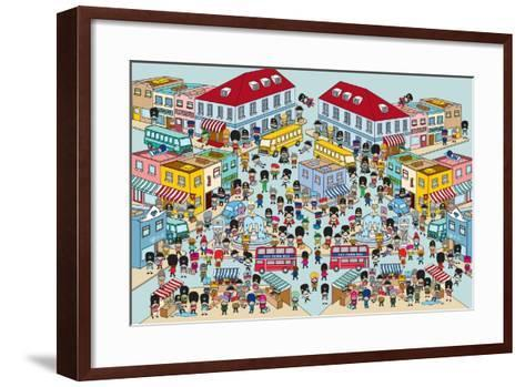 Toy Soldiers - Town-The Paper Stone-Framed Art Print