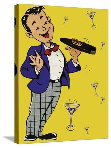 Cigar Chap-Tim Wright-Stretched Canvas Print