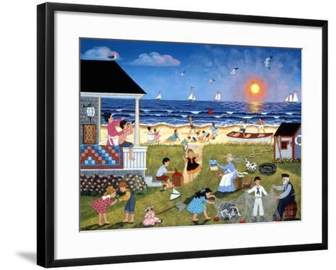 Red Sails at Sunset-Sheila Lee-Framed Art Print