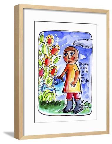 Watercolour Planet - Surrender 2-Sara Catena-Framed Art Print