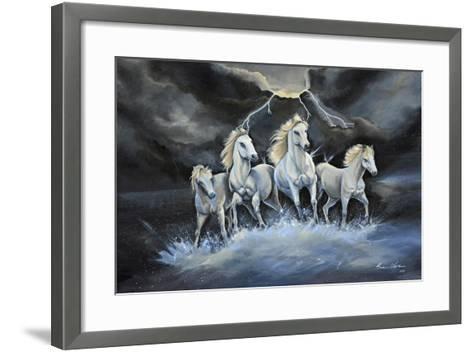 Thundering Horses-Sue Clyne-Framed Art Print