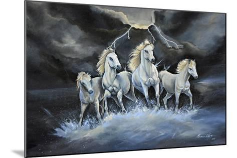 Thundering Horses-Sue Clyne-Mounted Giclee Print