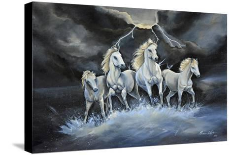 Thundering Horses-Sue Clyne-Stretched Canvas Print