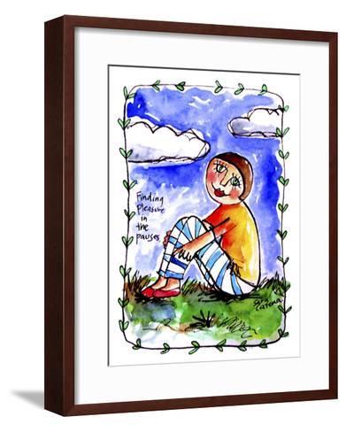 Watercolour Planet - Finding Pleasure 1-Sara Catena-Framed Art Print