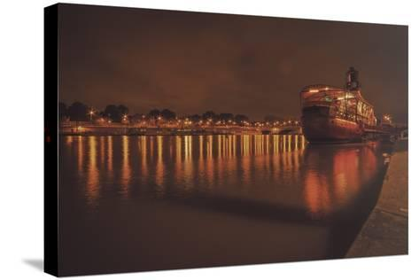 Paris Lost Boat-Sebastien Lory-Stretched Canvas Print
