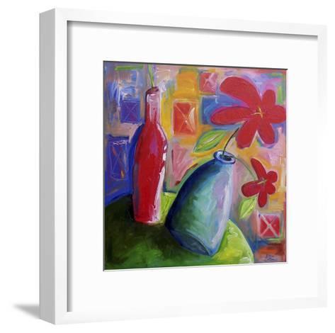 Hibiscus Morning-Sara Catena-Framed Art Print
