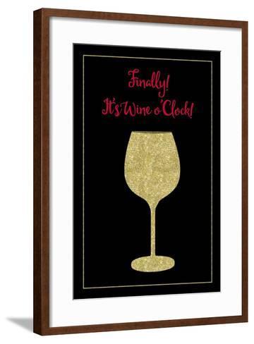 Wine O Clock-Tina Lavoie-Framed Art Print
