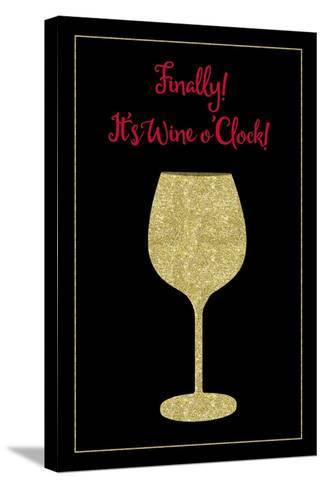 Wine O Clock-Tina Lavoie-Stretched Canvas Print