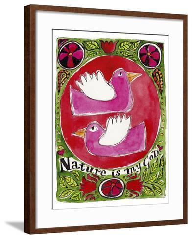 Watercolour Planet - Nature is My God-Sara Catena-Framed Art Print