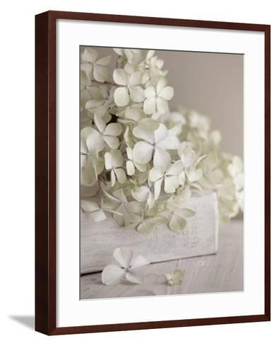 White Flowers-Symposium Design-Framed Art Print