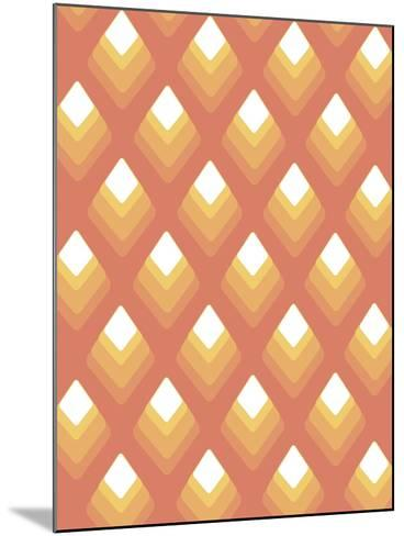 Abstract Pattern Peach-Whoartnow-Mounted Giclee Print