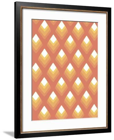 Abstract Pattern Peach-Whoartnow-Framed Art Print