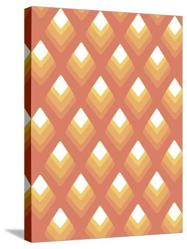 Abstract Pattern Peach-Whoartnow-Stretched Canvas Print