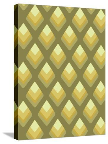 Abstract Pattern Green-Whoartnow-Stretched Canvas Print