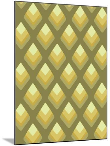 Abstract Pattern Green-Whoartnow-Mounted Giclee Print