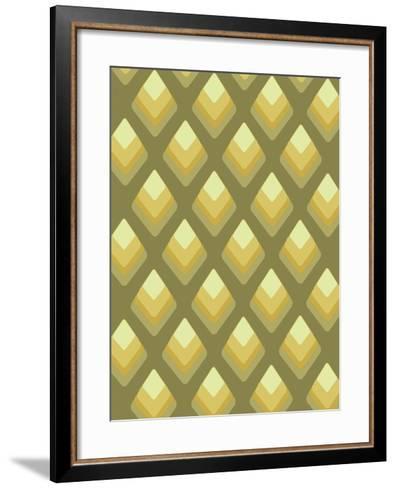 Abstract Pattern Green-Whoartnow-Framed Art Print