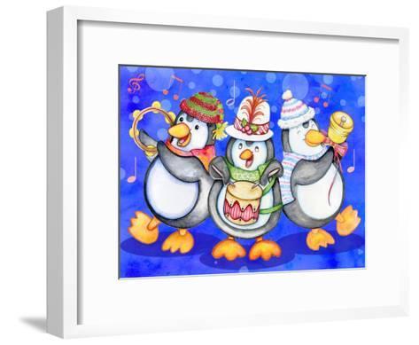 Penguin Percussion-Valarie Wade-Framed Art Print