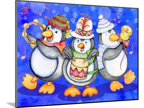 Penguin Percussion-Valarie Wade-Mounted Giclee Print