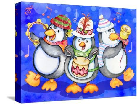 Penguin Percussion-Valarie Wade-Stretched Canvas Print
