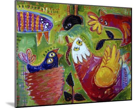 Barnyard Blues 1-Sara Catena-Mounted Giclee Print