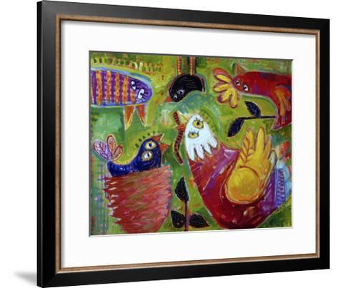 Barnyard Blues 1-Sara Catena-Framed Art Print
