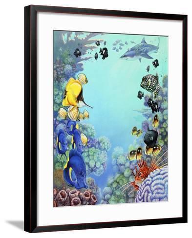 Puffer Reef-Tim Knepp-Framed Art Print