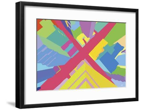 Intersection 3-Yoni Alter-Framed Art Print