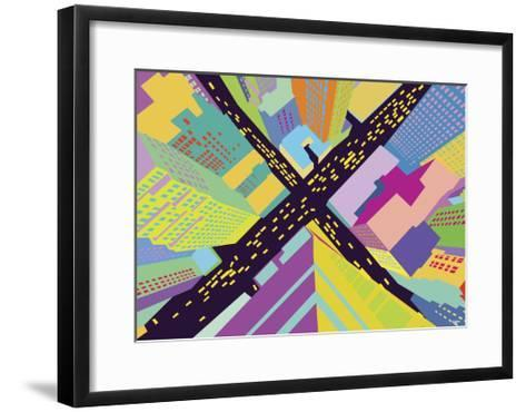 Intersection 2-Yoni Alter-Framed Art Print