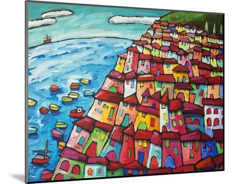 Cinque Terre, Amalfi Coast - Italy-Sara Catena-Mounted Giclee Print