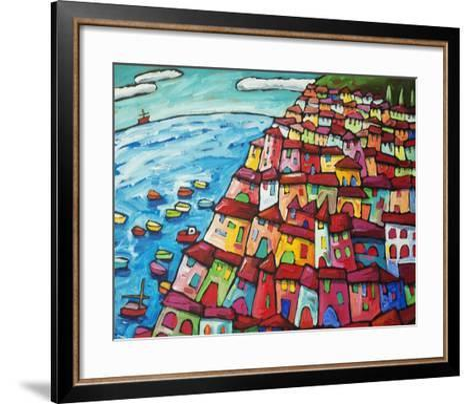 Cinque Terre, Amalfi Coast - Italy-Sara Catena-Framed Art Print