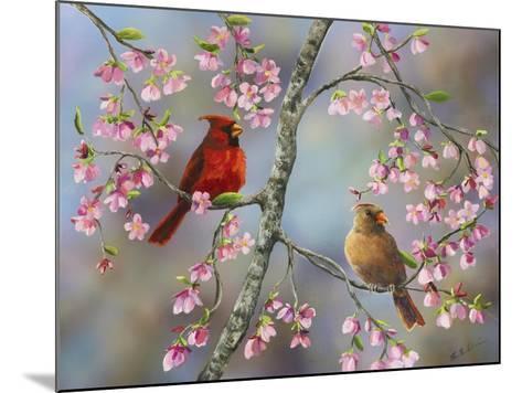 Spring Cardinals-Sarah Davis-Mounted Giclee Print