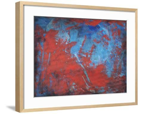 Red on Blue-Tim Nyberg-Framed Art Print