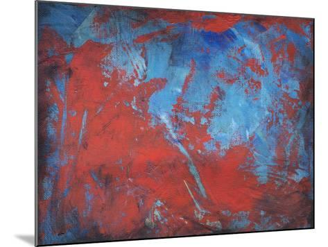 Red on Blue-Tim Nyberg-Mounted Giclee Print