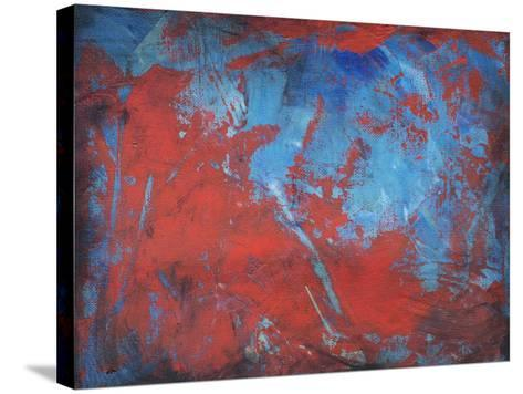 Red on Blue-Tim Nyberg-Stretched Canvas Print