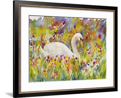 Colorful Swan-Sarah Davis-Framed Art Print
