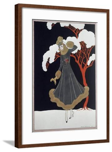 Barbier Dress-Vintage Apple Collection-Framed Art Print
