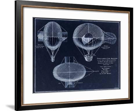 French Airship Balloon 1784-Tina Lavoie-Framed Art Print
