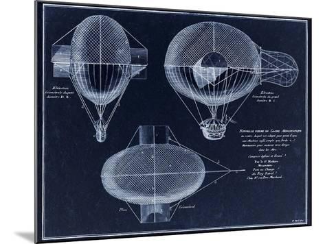 French Airship Balloon 1784-Tina Lavoie-Mounted Giclee Print