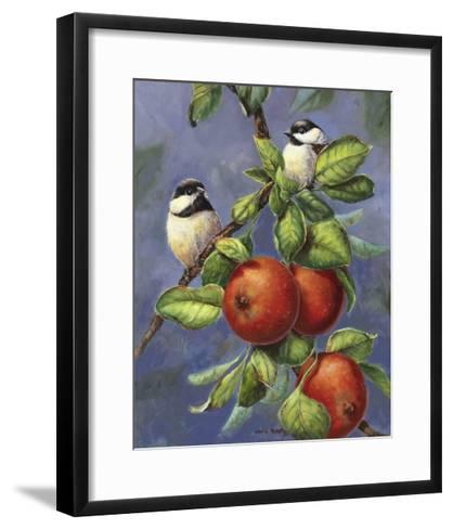 Chickadees and Apples-Wanda Mumm-Framed Art Print