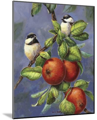 Chickadees and Apples-Wanda Mumm-Mounted Giclee Print