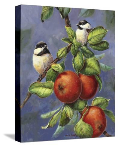 Chickadees and Apples-Wanda Mumm-Stretched Canvas Print