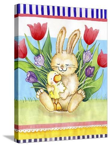 Bunny Hugs-Valarie Wade-Stretched Canvas Print