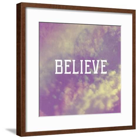 Believe-Vintage Skies-Framed Art Print