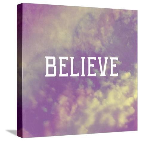 Believe-Vintage Skies-Stretched Canvas Print