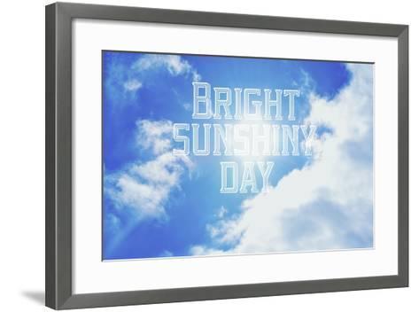 Bright Sunshiney Day-Vintage Skies-Framed Art Print