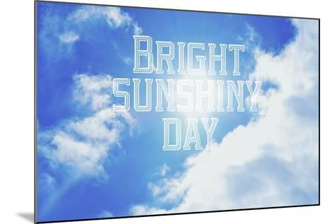 Bright Sunshiney Day-Vintage Skies-Mounted Giclee Print