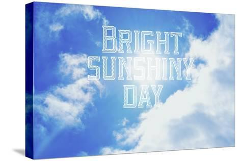 Bright Sunshiney Day-Vintage Skies-Stretched Canvas Print