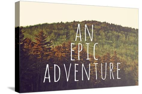 An Epic Adventure-Vintage Skies-Stretched Canvas Print
