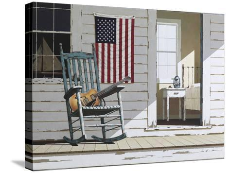 Rocking Chair with Guitar-Zhen-Huan Lu-Stretched Canvas Print