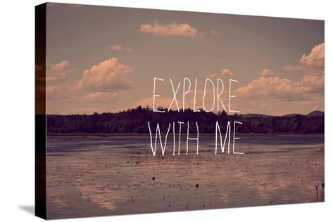 Explore with Me-Vintage Skies-Stretched Canvas Print